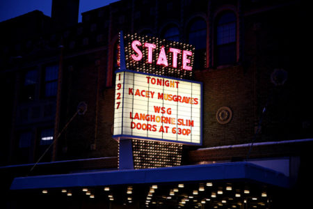 Kacey Musgraves and Langhorne Slim performed at the Kalamazoo State Theatre on Thursday, Feb. 25, 2016. (Chelsea Purgahn/Kalamazoo Gazette)