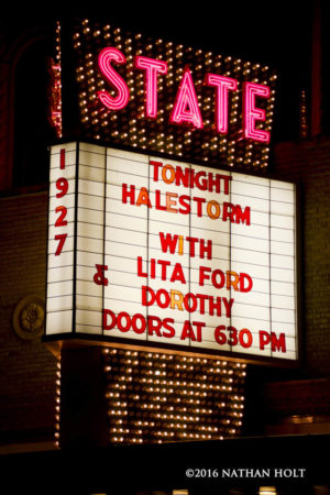 Halestorm performs at the State Theatre in Kalamazoo, MI on October 25, 2016