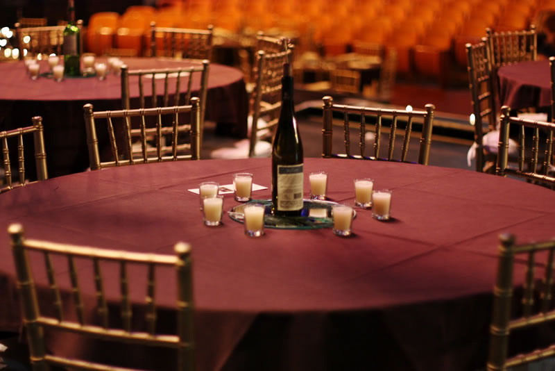 Wedding Table Setting at the Kalamazoo State Theatre