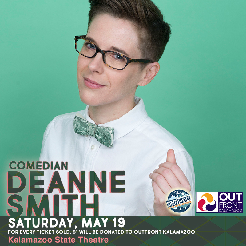 Comedian DeAnne Smith A Pre-Pride Event with OutFront Kalamazoo